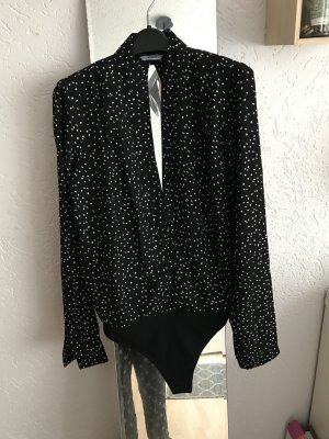 Bodyblouse zwart-wit