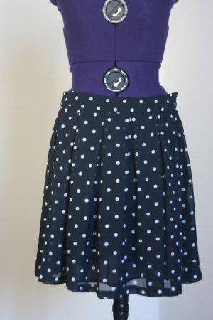 H&M Plaid Skirt white-dark blue polyester