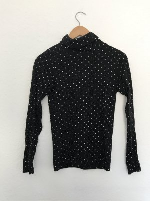 H&M Turtleneck Sweater black-white