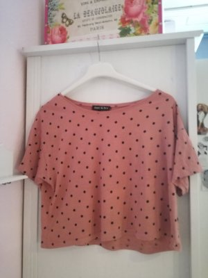 Gepunktetes Crop-Shirt