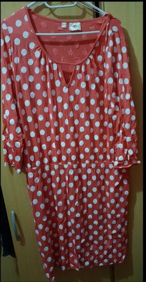 b.p.c. Bonprix Collection Robe stretch blanc-rouge clair