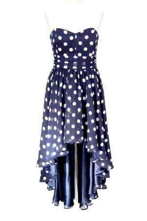 Gepunktetes Kleid in Dunkelblau