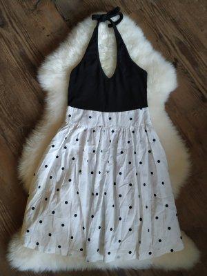 gepunktetes Kleid Neckholderkleid Esprit Größe 34 xs passgenau wie neu‼️‼️