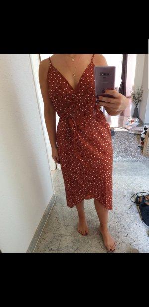 Asos Petite Midi-jurk donker oranje