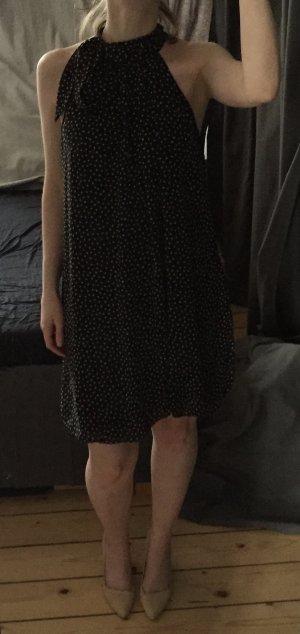 Gepunktetes schwarzes Kleid (Größe 36)