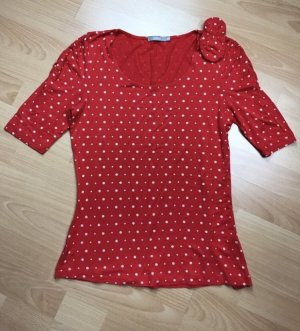 3 Suisses Boatneck Shirt red-white