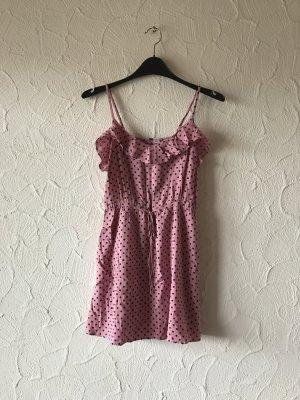 Gepunktetes Sommerkleid in Pink