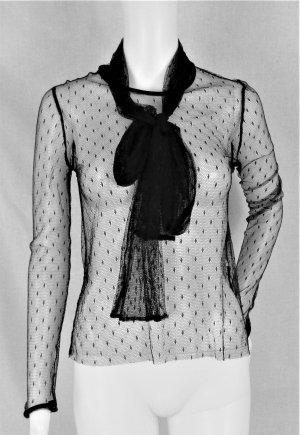 Zara Woman Kanten topje zwart Polyamide