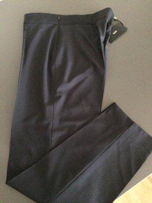 Hugo Boss Pantalone a vita alta blu scuro Lana vergine