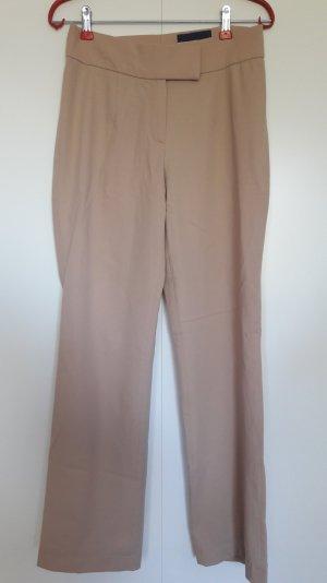 Gerade geschnittene Business-Hose mit Wolle beige sand Gr. 36 gekürzt!