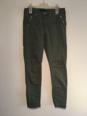 Gerade geschnittene Jeans in Khaki