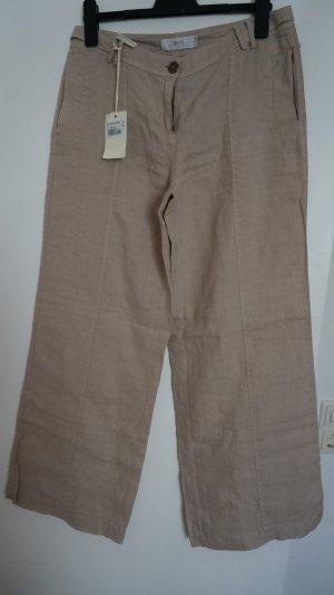 Marlboro Pantalone di lino beige chiaro
