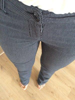 Gerade Hose von Tally Weijl mit Nadelstreifen Gr. 36 (auch 38, für große Personen) grau weiß