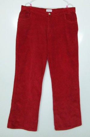 Wissmach Pantalón de pana rojo oscuro-rojo ladrillo tejido mezclado
