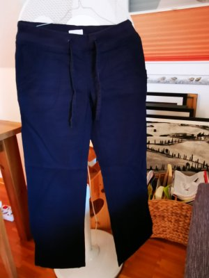 Vero Moda Linen Pants dark blue linen