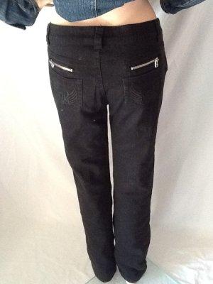 Gerade schwarze Jeans