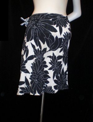 Benetton Minifalda negro-blanco Viscosa
