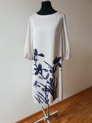 H&M Hippie Dress oatmeal-dark blue