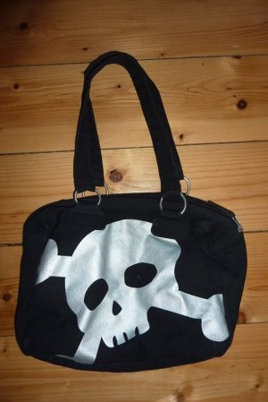 Geräumige Handtasche im Totenkopfdesign
