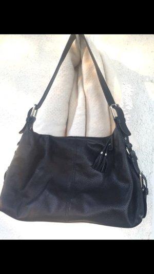 Tchibo / TCM Sac porté épaule noir cuir