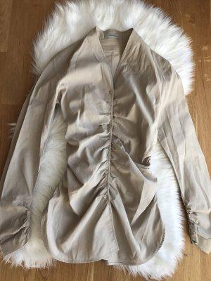 Geraffte Bluse mit langen Ärmeln