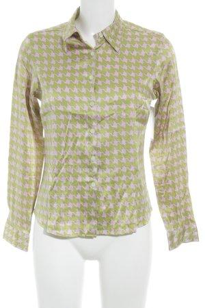 Gerard darel Hemd-Bluse neongrün-neonpink grafisches Muster Business-Look