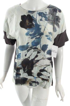 Gerard darel Kurzarm-Bluse abstraktes Muster Casual-Look