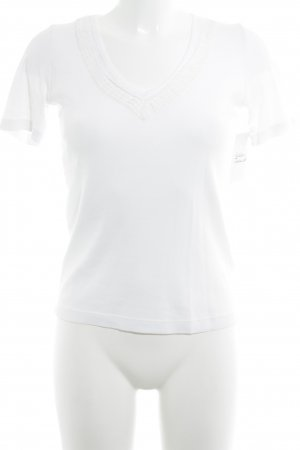 Gerard darel T-Shirt weiß Romantik-Look
