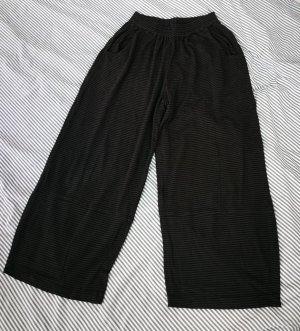 Diva Pantalon large noir-gris foncé coton