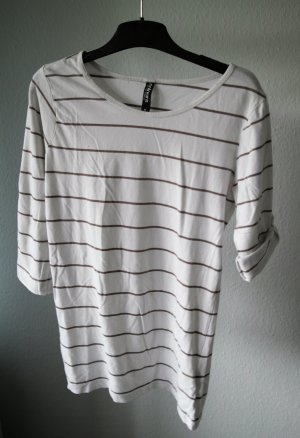 Colours of the World Stripe Shirt white-brown cotton