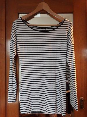 Expresso Camisa de rayas blanco-azul oscuro Algodón