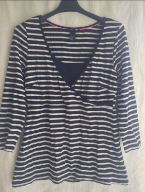 H&M Gestreept shirt zwart-wit