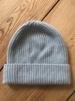 Repeat Cashmere Sombrero de punto azul pálido