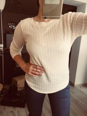 Gerippter Pullover mit Rückenausschnitt