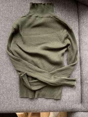 Gerippter Rollkragen Pullover