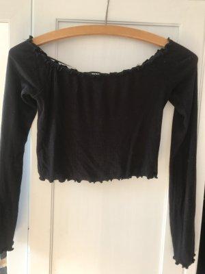 Bik Bok Cropped shirt zwart