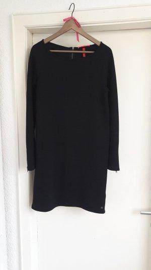 Geripptes Kleid Longpulli oversize Ripped Business Büro S.Oliver