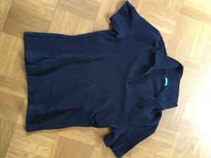 Benetton Geribd shirt donkerblauw