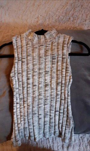 Seven Sisters Top lavorato a maglia bianco-grigio