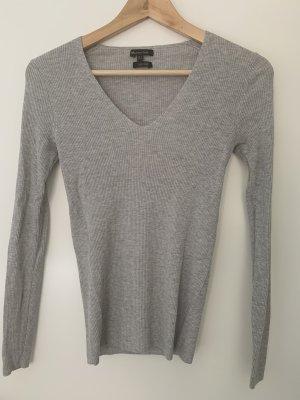 new product c2480 64cf9 Massimo Dutti Maglione di lana grigio chiaro