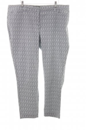 Gerke 7/8-broek donkergrijs-wit abstract patroon zakelijke stijl