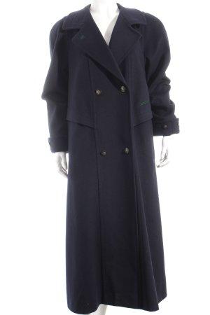 Gerlach Fashion Wollmantel dunkelblau Casual-Look