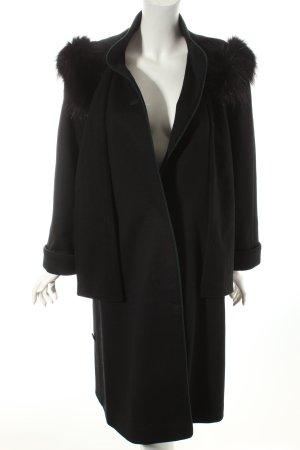 Gerlach Fashion Wollmantel dunkelblau-waldgrün Casual-Look