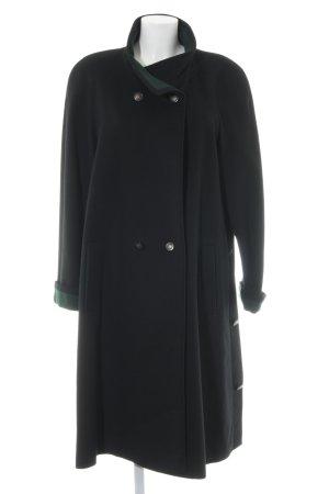 Gerlach Fashion Wollmantel schwarz-waldgrün Elegant