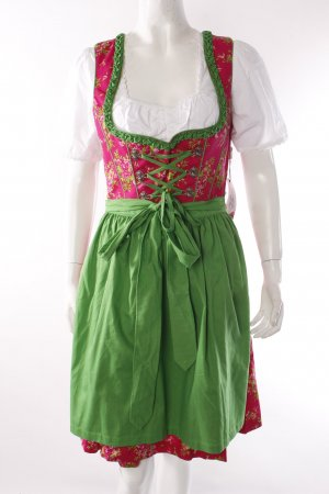 German Princess Dirndl pink-green blouse with