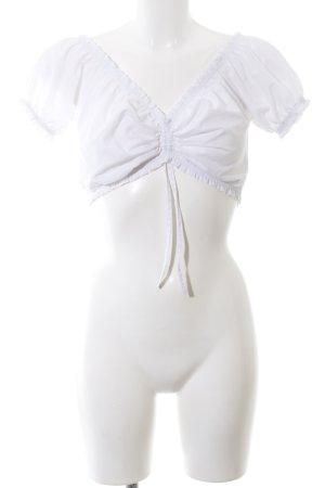 Blouse bavaroise blanc style décontracté