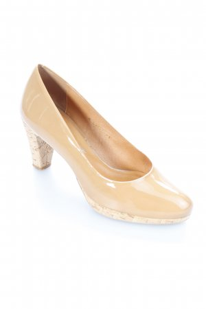 Gero Mure High Heels nude Glanz-Optik