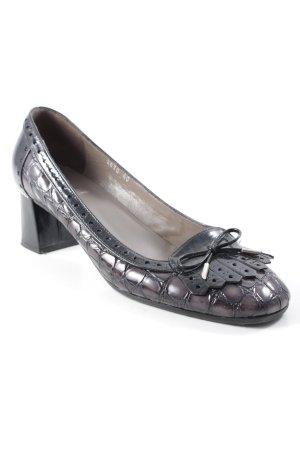 Gero Mure Loafers zwart dierenprint zakelijke stijl