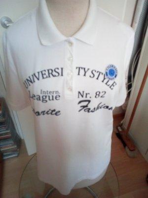 Gerry Weber Camiseta tipo polo blanco
