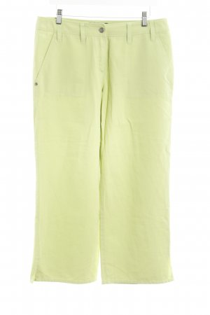 Gerry Weber Pantalone a 3/4 verde chiaro stile casual